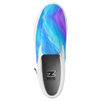 Elegant Abstract style blue Unisex Slip-On Shoes