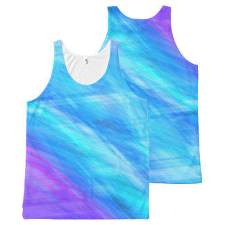 Elegant Abstract style blue Unisex Tank All-Over Print Tank Top