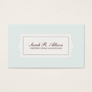 Elegant Accountant Plaque Style Light Blue