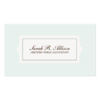 Elegant Accountant Plaque Style Light Blue Pack Of Standard Business Cards