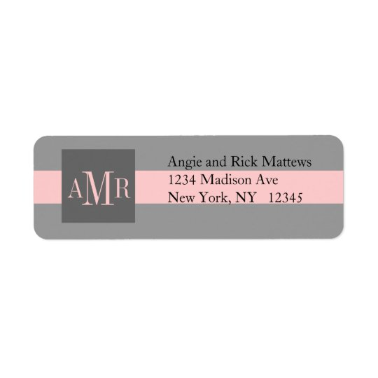 Elegant Address Labels Three Monograms Weddings