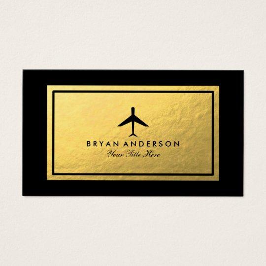 Elegant Aeroplane Business Card