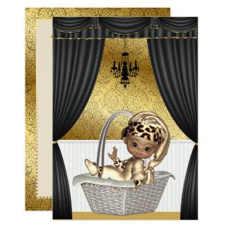 Elegant African American Ethnic Baby Shower 13 Cm X 18 Cm Invitation Card
