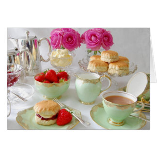 Elegant Afternoon Tea Greetings Card