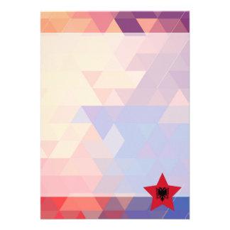 Elegant Albania flag heart 13 Cm X 18 Cm Invitation Card