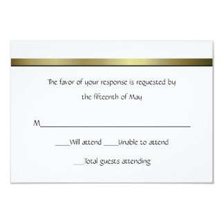 Elegant All Purpose Wedding Response Card Personalized Announcement