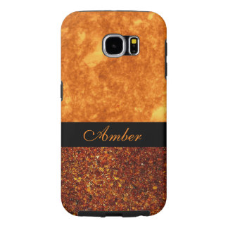 Elegant Amber and Black Custom Personalized Cover