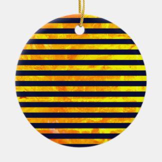 Elegant amber ant stripes pattern christmas ornament