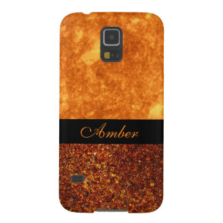 Elegant Amber Stone Custom Personalized Cover Cases For Galaxy S5