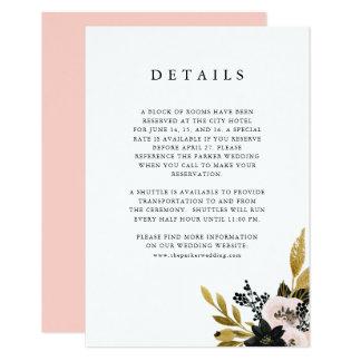Elegant Ampersand | Gold and Blush Guest Details Card