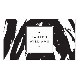 Elegant and Abstract Black and White Brushstrokes Pack Of Standard Business Cards