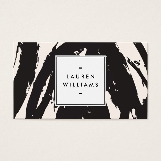 Elegant and Abstract Black Brushstrokes Business Card