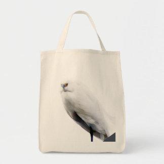 Elegant and Beautiful Snowy Egret Canvas Bag