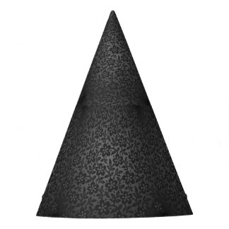 ELEGANT AND CLASSY BLACK FLORAL PATTERN PARTY HATS