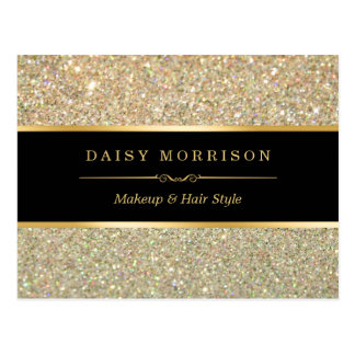 Elegant and Classy Gold Glitter Sparkles Postcard
