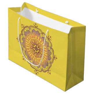 Elegant and Colourful Mandala Large Favour Bag