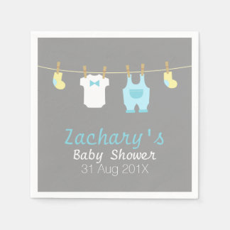 Elegant and Cute Baby Boy Clothes, Baby Shower Paper Napkins