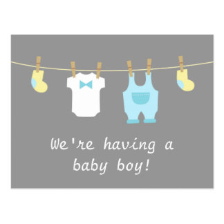 Elegant and Cute Baby Boy Clothes Postcard