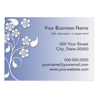 Elegant and Cute Blue and White Floral Business Card Templates
