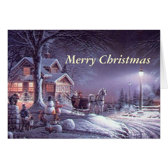 Elegant and delightful vintage Christmas holiday Card