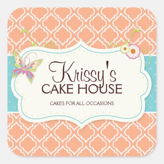 Elegant and Fun Bakery Box Stickers