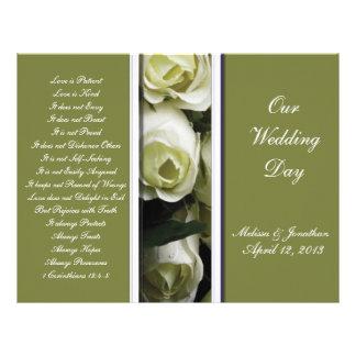 Elegant and Green Wedding Program 21.5 Cm X 28 Cm Flyer