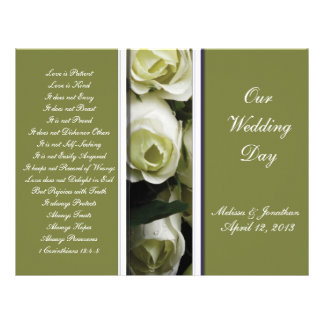Elegant and Green Wedding Program Personalized Flyer