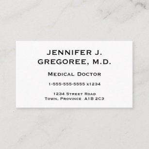 Doctors business cards zazzle uk elegant and minimal medical doctor business card colourmoves