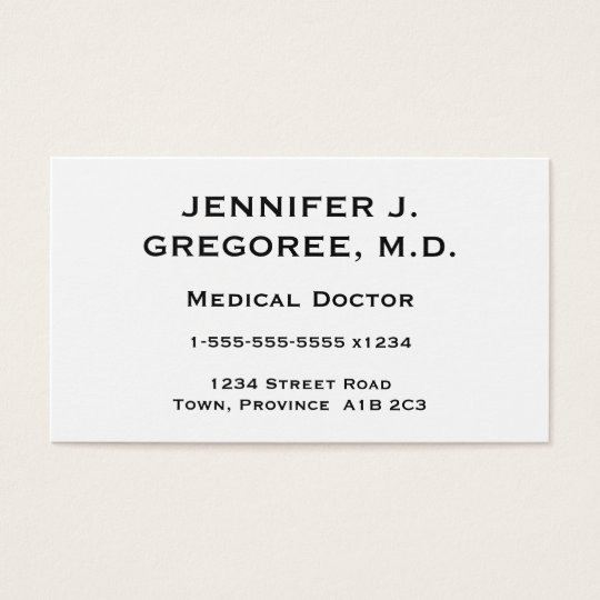 Elegant and Minimal Medical Doctor Business Card