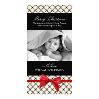 Elegant and Modern Birth Announcement Photo Greeting Card