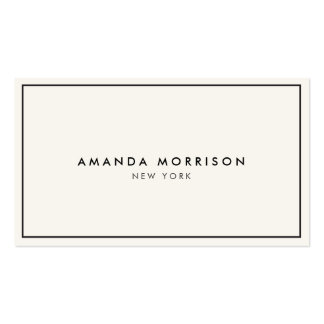 Elegant and Refined Luxury Boutique Black/Ivory II Pack Of Standard Business Cards
