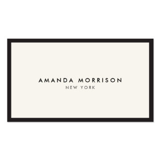 Elegant and Refined Luxury Boutique Black/Ivory Pack Of Standard Business Cards
