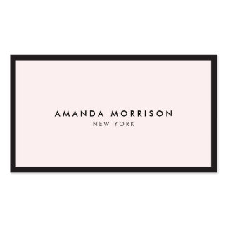 Elegant and Refined Luxury Boutique Black/Pink Pack Of Standard Business Cards