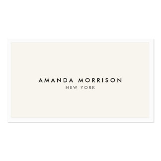 Elegant and Refined Luxury Boutique White/Ivory Pack Of Standard Business Cards