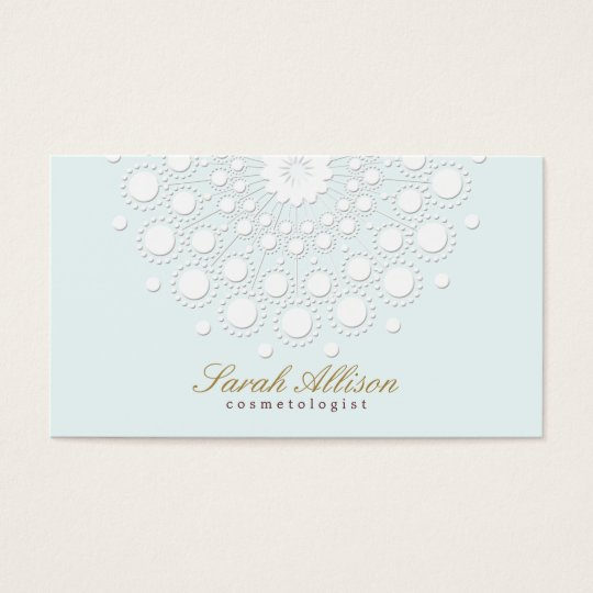 Elegant and Simple Cosmetologist Light Blue Business Card