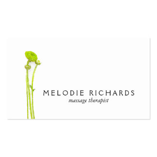 Elegant and Simple Watercolor Floral Therapist Business Card Templates