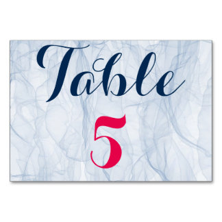 Elegant and stylish pink and blue wedding table # table cards