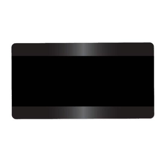 Elegant and stylish satin grey border blank shipping label