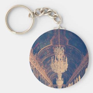 Elegant and vintage chandelier basic round button key ring