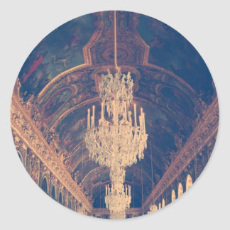 Elegant and vintage chandelier classic round sticker
