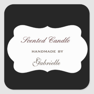 Elegant and wimsical black board square sticker