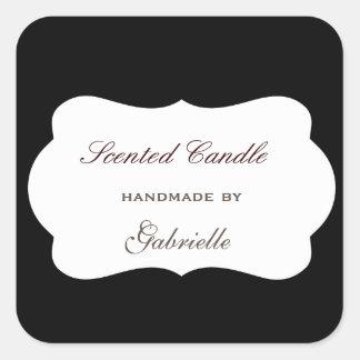 Elegant and wimsical black board square sticker