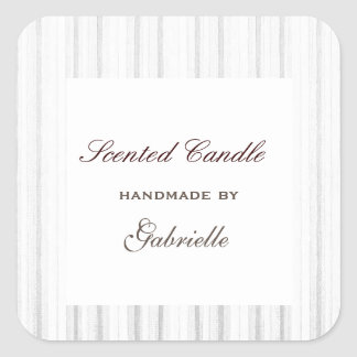 Elegant and wimsical white stripe square sticker