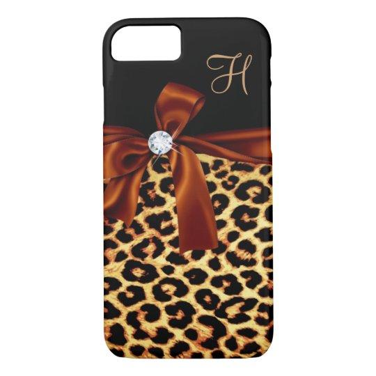 Elegant Animal Faux Diamond Monogrammed iPhone 8/7 Case