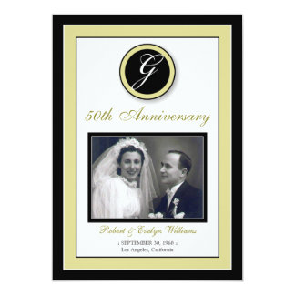 """Elegant Anniversary Party Invitation (champagne) 5"""" X 7"""" Invitation Card"""