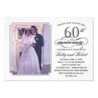 Elegant Anniversary Party Photo Invitation