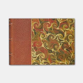 Elegant Antique Book, Ornate Swirl Pattern Post-it Notes