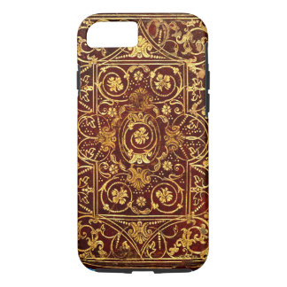 Elegant Antique Gilded Leather Book Cover