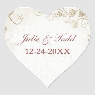 Elegant Antique Gold Save The Date Stickers