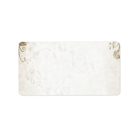 Elegant Antique Gold Vintage Wedding Address Label